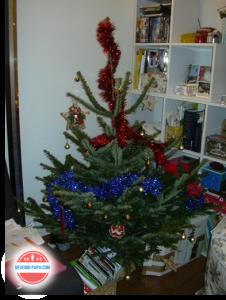 A Noël on peut parfois faire des sapins mal fagoté mais le charme est dans le faire ensemble et non dans le résultat final